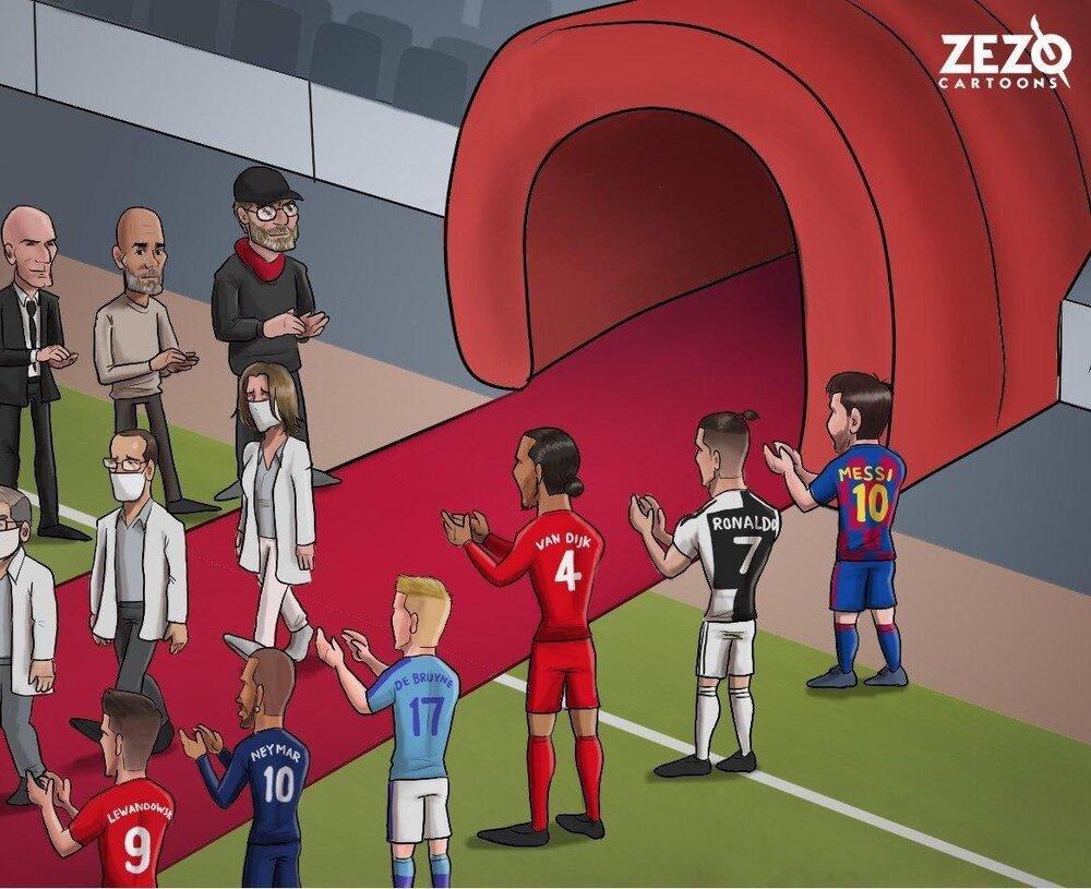 اینم تونل افتخار برای قهرمانان جهان!