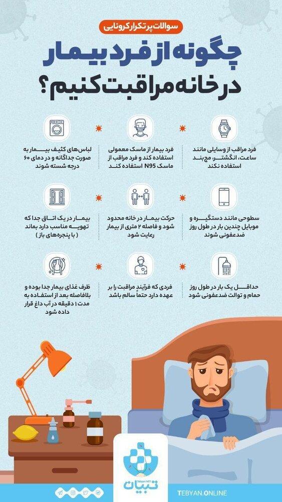 چگونه از فرد بیمار در خانه مراقبت کنیم؟