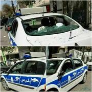 ماجرای تخریب خودروی  پلیس راهور در خوی چه بود؟