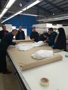 تولید روزانه هزار دست  لباس بیمارستانی در ارس