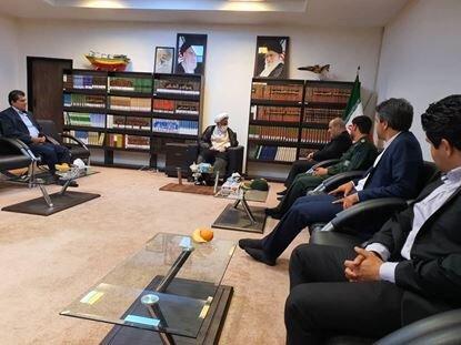 دیدار مدیرعامل سازمان منطقه آزاد قشم با نماینده ولی فقیه در استان