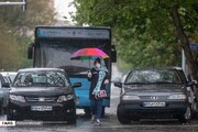 تصاویر | تهران، زیر باران بهاری