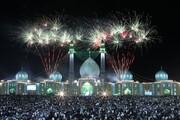 پخش زنده نور افشانی به مناسبت جشن نیمه شعبان در همدان