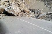 مسدود شدن مسیر ارومیه به اشنویه بدلیل ریزش کوه