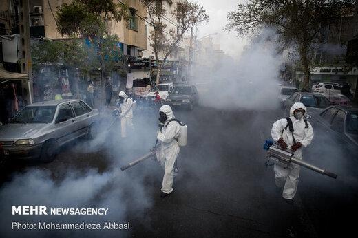 اقدامات شهرداری کرج برای مقابله با کرونا انجام ۳۸۰ عملیات ضدعفونی