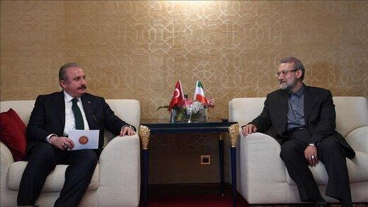 رییس مجلس ترکیه جویای حال علی لاریجانی بعد از ابتلا به کرونا