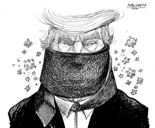 بالاخره تصویر ترامپ با ماسک لو رفت!