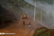 تصاویر | بارش شدید باران باعث رانش زمین در مازندران شد