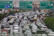 ببینید | ترافیک بیسابقه امروز صبح اتوبان امام علی تهران