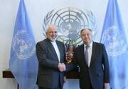 Zarif, Guterres discuss US illegal sanctions on Iran
