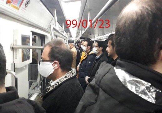 وضعیت خطرناک امروز متروی تهران/ عکس