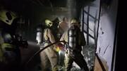 ببینید | نخستین تصاویر از آتشسوزی بازار ستارخان