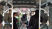 فاصلهگذاری اجتماعی در اتوبوسهای پایتخت/ تصاویر