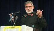 عکس | سردار قاآنی کنار فرمانده مقاومتی که آمریکا برایش جایزه ۱۰ میلیون دلاری گذاشته