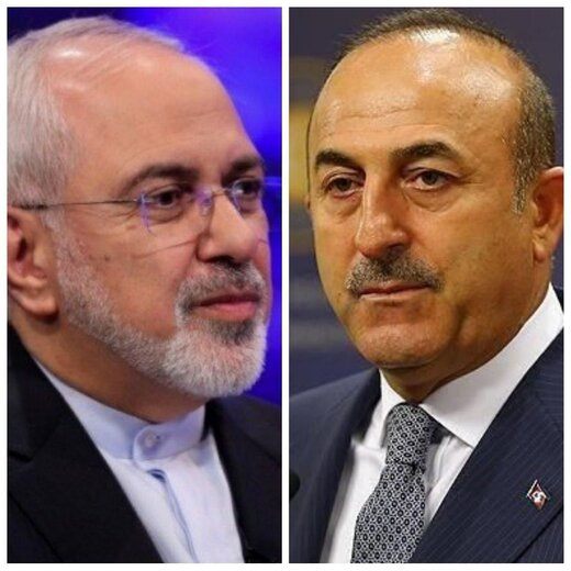 ظریف با وزیر خارجه ترکیه گفتگو کرد