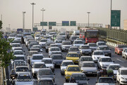 وضعیت ترافیکی معابر اصلی و بزرگراهی پایتخت در ۲۷ فروردین