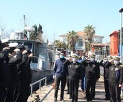 بازدید امیر دریادار خانزادی از ناوگان شمال نیروی دریایی ارتش /تاکید بر افزایش سطح آمادگی رزمی