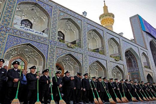 ببینید | قدردانی متفاوت خادمان حضرت امام رضا(ع) از کادر درمانی ایران