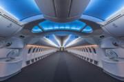 عکس   نمای داخلی هواپیمای بوئینگ ۷۸۷ قبل از نصب صندلیها