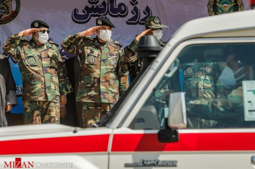 ببینید | متفاوت ترین رژه روز ارتش آغاز شد