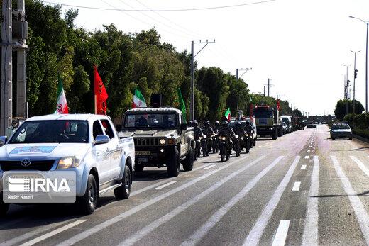 مراسم «رژه خدمت» ارتش در شهرستان ها