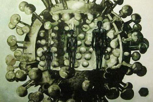 هنرمند ایرانی ۸ سال پیش تصویر کرونا را به چین برد