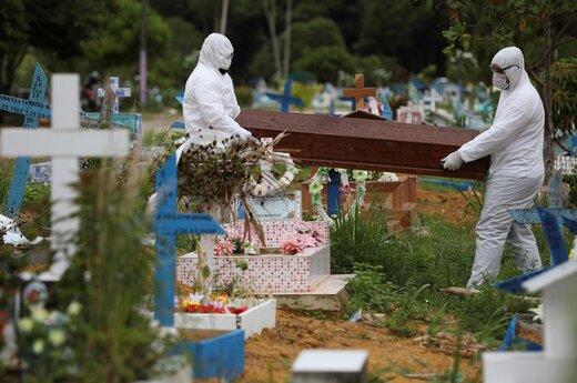 تصاویر تدفین اجساد کرونایی؛ یکی در دورترین نقطه غرب زمین و دیگری دورترین نقطه در شرق زمین!
