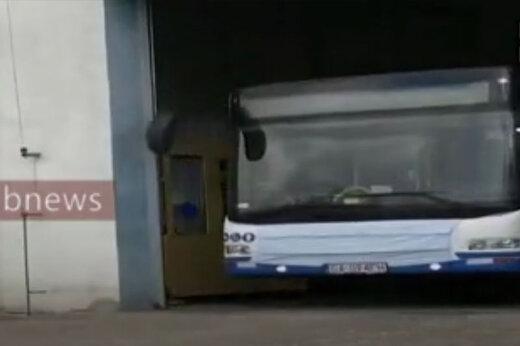 ببینید | اتوبوسها از ترس کرونا ماسک زدند