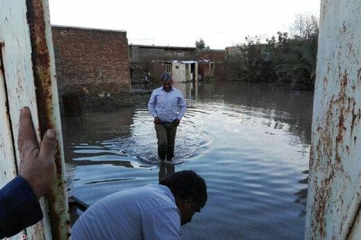 ببینید | خسارت سیل و باران به مردم شهر پرند