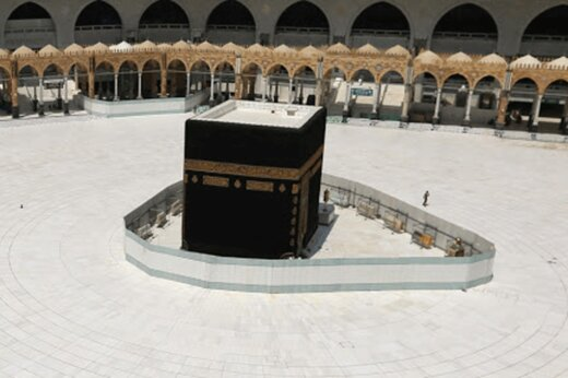 ببینید | برگزاری نماز در مسجدالحرام با رعایت فاصلهگذاری اجتماعی