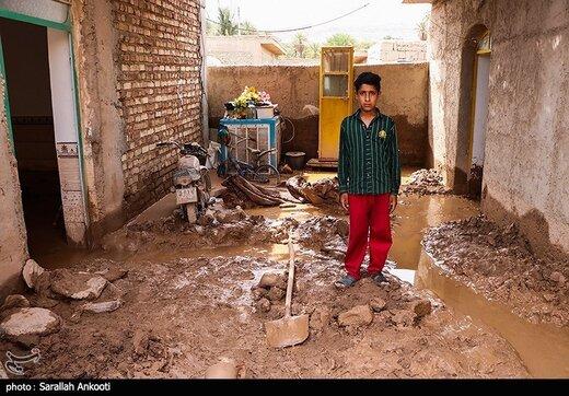 تصاویر بلایی که سیل بر سر این روستاهای کرمان آورد
