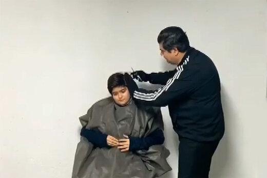 ببینید | وقتی سالار عقیلی آرایشگر میشود!