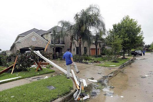 ببینید | خسارات هولناک طوفان در ایالت تگزاس آمریکا