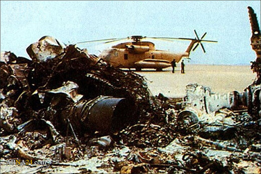 ببینید   تصاویر هلیکوپترهای آتش گرفته و اجساد سوخته عملیات پنجه عقاب از تلویزیون پخش شد