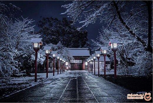 زیبایی جادویی معابد شهری عجیب در زمستانی که گذشت! +تصاویر