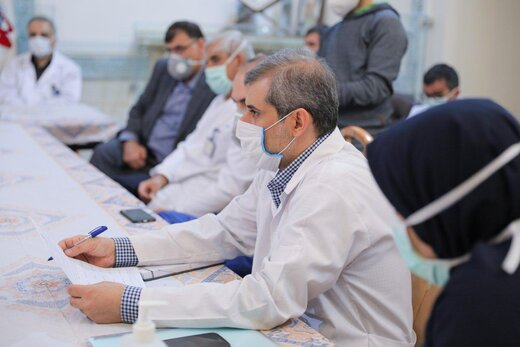 حالتهای ماسکدار پزشکان مبارزه با کرونای بیمارستان مسیح