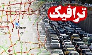 ترافیک در آزادراه قزوین تا تهران