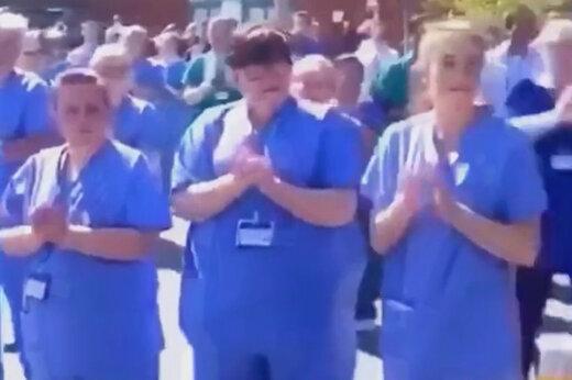 ببینید | تشکر کادر درمانی انگلیس از پزشک مسلمانی که به خاطر کرونا جانش را از دست داد