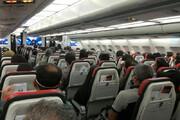 عکس | عکس دلهره آور از یک پرواز داخلی در دل بحران کرونا!
