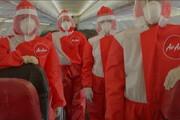 ببینید | پوشش عجیب مهماندارهای هواپیما در شرایط کرونایی که تاکنون ندیدهاید