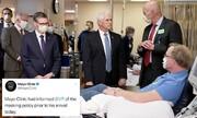توجیه عجیب معاون ترامپ برای ماسک نزدن در بیمارستان