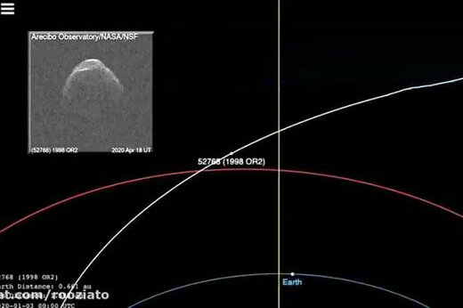 ببینید | سیارک عظیم و نابودگر به زمین رسید/ امروز  خطر از بیخ گوش جهان می گذرد؟