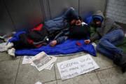 ببینید | حضور افراد بیخانمان در مترو نیویورک