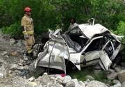 سقوط خودرو به دره ۱۵۰ متری سه جوان را به کام مرگ کشید/ تصاویر