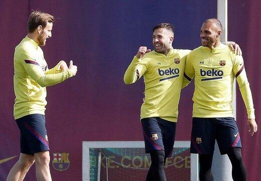 تصاویری از بازگشت بازیکنان بارسلونا به تمرینات