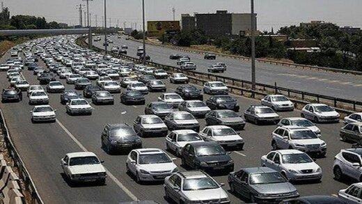 ترافیک سنگین صبح تهران از سمت کرج