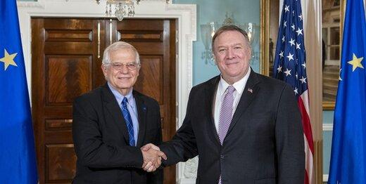 پمپئو: اروپاییها در قبال ایران با ما هم نظر هستند