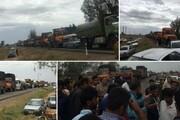 عکس | اعتراض کشاورزان وسط جاده، به خاطر گوجه و پیاز هزار تومانی