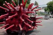 ببینید | کمپین هشدار کرونایی در هند