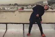 ببینید | گزارش تلویزیون ارتی روسیه از مهارت دختر فوتبالیست ایرانی روی پشت بام!